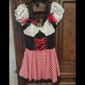 Halloween Booty Pirate Wench Costume Size L